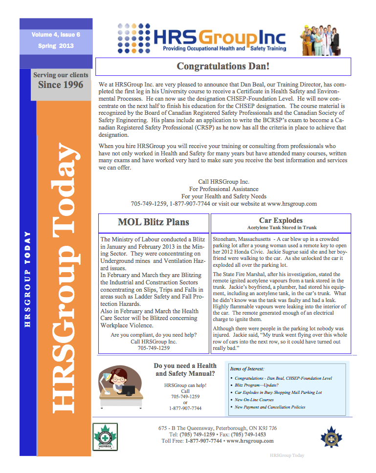 HRS Group Newsletter 2013